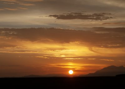 Sonnenaufgang in Lewa