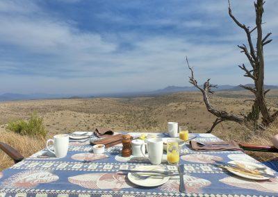 Outdoor-Frühstück in Lewa