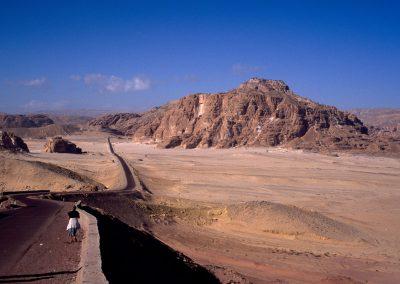 Weg durch die Wüste von Israel nach Ägypten