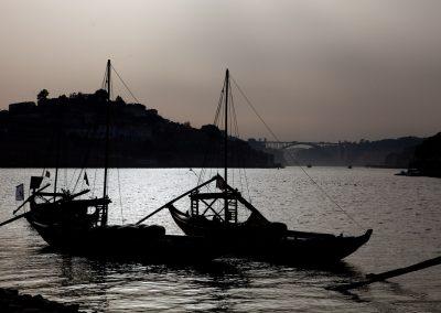 Portweinschiffe in Porto, Portugal