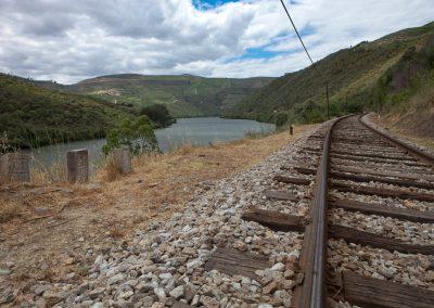 Eisenbahn im Duoro-Tal, Portugal