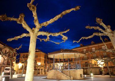 Hauptplatz bei Nacht, Rioja, Spanien