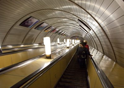 U-Bahn Rolltreppe, Moskau