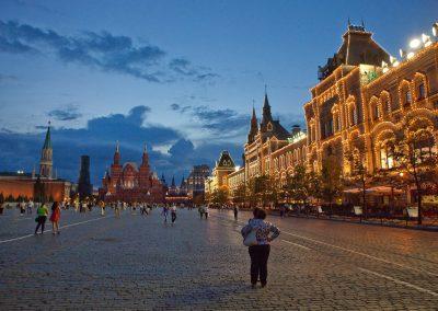 Kaufhaus Gum bei Nacht, Moskau