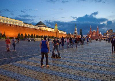 Roter Platz bei Nacht, Moskau