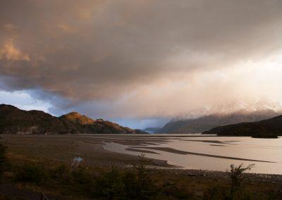 Blick über den Lago Grey, Chile