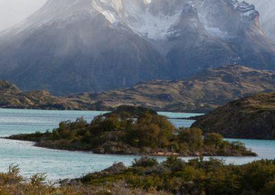 Blick auf die Felstürme in Nationalpark Torres Del Paine, Chile