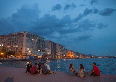 Thessaloniki am Abend, Griechenland