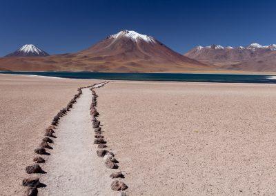 Weg zum See, Atacama, Chile