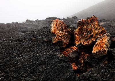 Lava vom Tolpatschik-Ausbruch 2013, Kamtschatka, Russland
