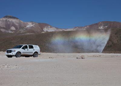 Heiße Wasserfontaine im Altiplano, Chile