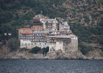 Kloster auf Athos, Chalkidiki, Griechenland