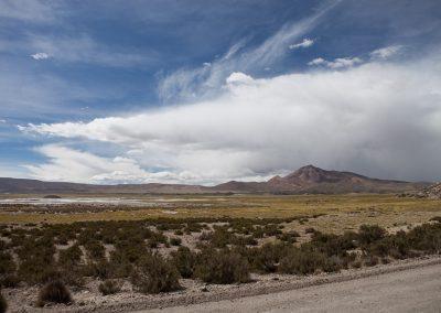 Wolkenstimmung im Altiplano, Chile