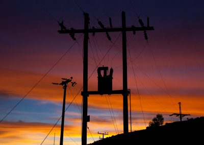 Energieversorgung im Abendrot, Putre, Chile