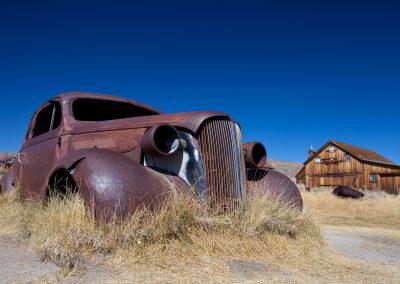 Auto in der Geisterstadt Bodie, USA