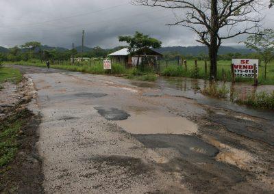 Überflutete Straße, Costa Rica