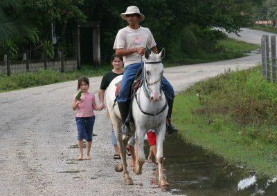 Cowboy mit Familie, Costa Rica