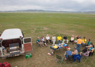 Picknick in der Steppe