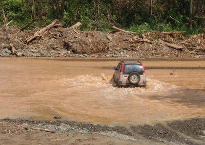 Flußdurchquerung, Costa Rica