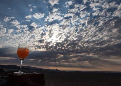 Sundowner, Hoodia Desert Lodge, Namibia