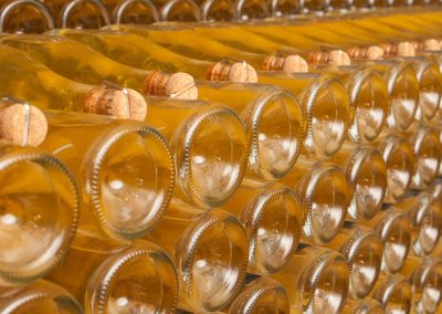 Flaschenstapel, Champagne, Frankreich