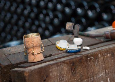 Utensilien im Keller, Champagne, Frankreich