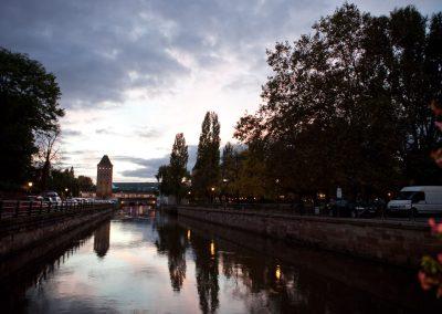 Fluß, Elsass, Frankreich