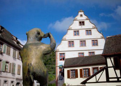 Bär im Ort, Elsass, Frankreich