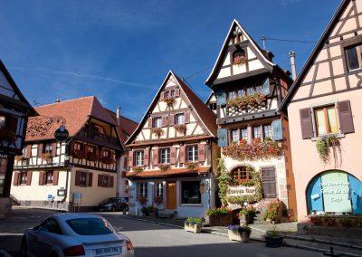 Fachwerkbau, Elsass, Frankreich