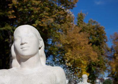 Statue, Elsass, Frankreich