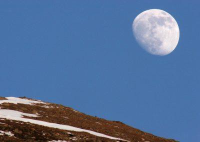 Mond über den Bergen, Gastein, Österreich