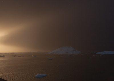 Sonnenuntergang, Ilulissat, Grönland