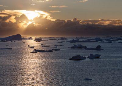 Sunnenuntergang, Ilulissat, Grönland