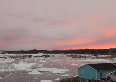Treibeis am Abend, Ilulissat, Grönland