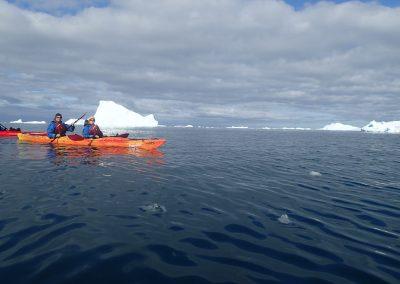 Mit dem Kayak zwischen den Eisbergen, Grönland