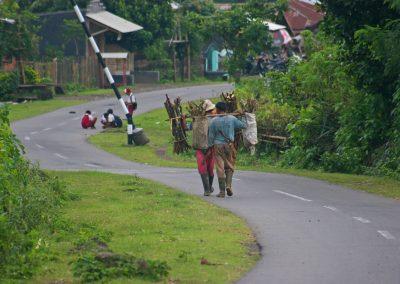 Straße durchs Dorf, Lombok, Indonesien