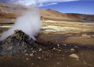 Vulkanische Aktivität, Krafla, Island