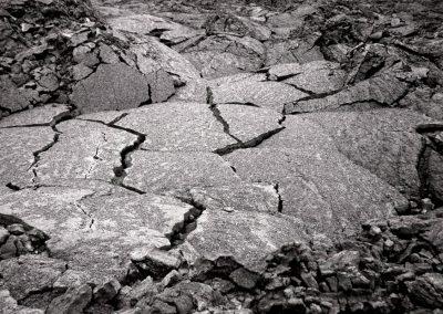 Erstarrte und gebrochene Lava, Island