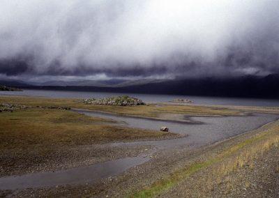 Regen im Anmarsch, Island