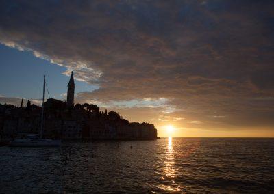 Abendsonne, Rovinj, Kroatien