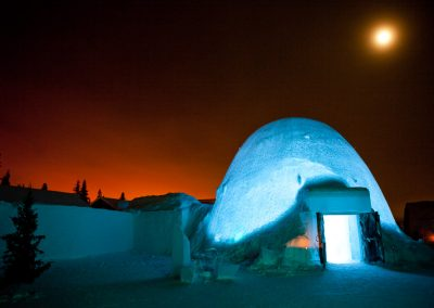 Eishotel nahe Kiruna, Schweden