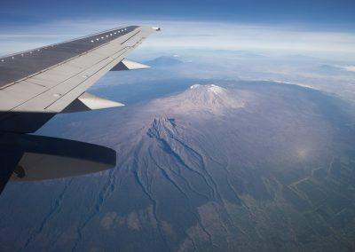 Flug über den Kilimandscharo, Tansania