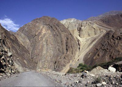 Steiniger Weg nach Huaraz, Peru