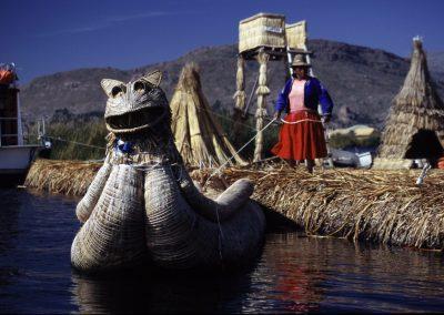 Uros am Titikakasee, Peru