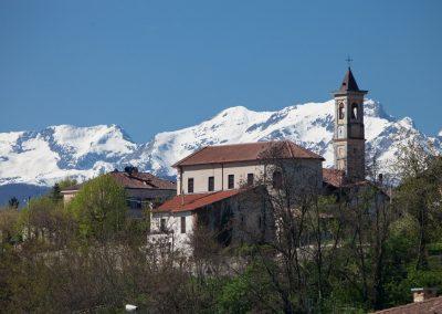 Dorfkirche, Piemont, Italien