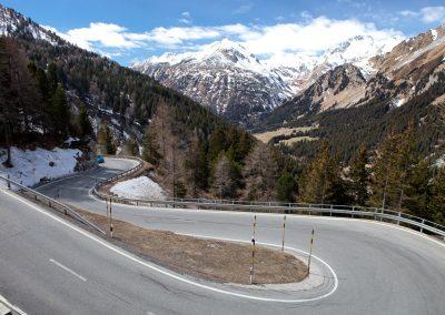Straße zum Passo di Giau, Italien