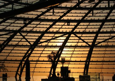 Hangar-7 im Abendrot, Salzburg