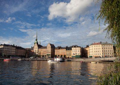 Blick auf Gamla Stan, Stockholm, Schweden