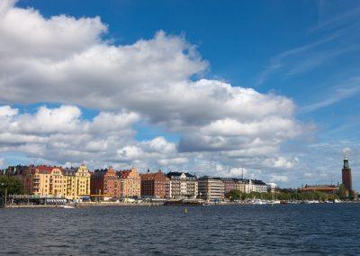 Häuserfront, Stockholm, Schweden