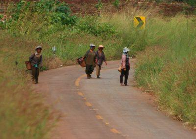 Bauern auf der Straße, Thailand